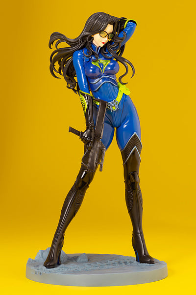 G.I.JOE BARONESS 25th ANNIVERSARY BLUE COLOR BISHOUJO STATUE FRONT VIEW