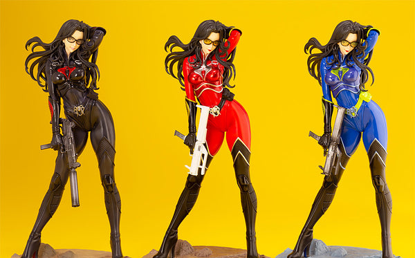G.I.JOE BARONESS 25th ANNIVERSARY BLUE - RED - BLACK - COLOR BISHOUJO STATUE