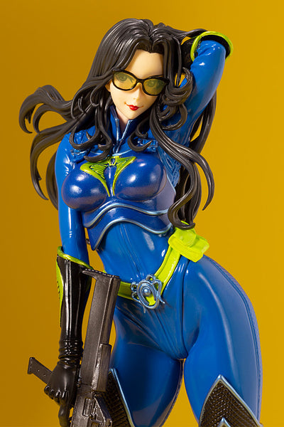 G.I.JOE BARONESS 25th ANNIVERSARY BLUE COLOR BISHOUJO STATUE LEFT CLOSE-UP