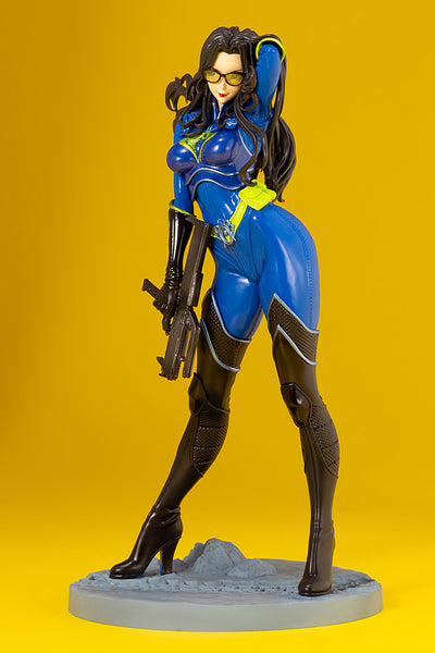 G.I.JOE BARONESS 25th ANNIVERSARY BLUE COLOR BISHOUJO STATUE LEFT SIDE VIEW