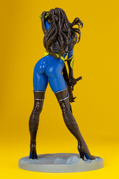 G.I.JOE BARONESS 25th ANNIVERSARY BLUE COLOR BISHOUJO STATUE BACK VIEW