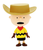 Charlie Brown Cowboy Figure Front