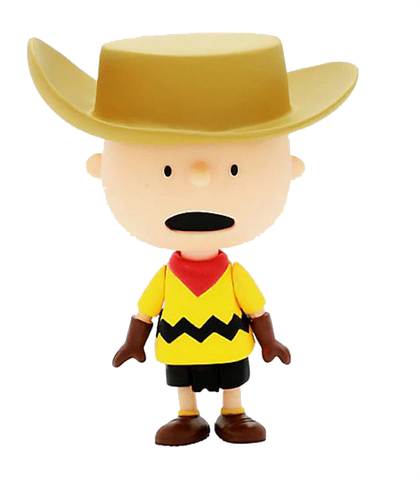 Super 7 Peanuts Cowboy Charlie Brown 3.75 Inches Reaction Collectible Vinyl Figure