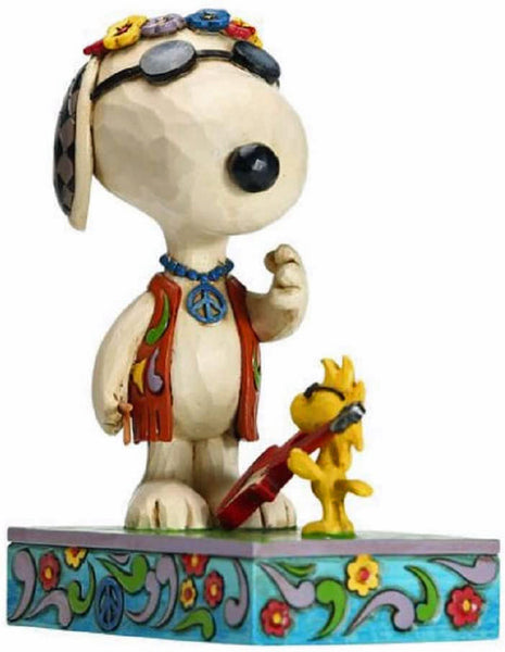 Enesco Peanuts Snoopy and Woodstock Concert Goers Concert Critters by Jim Shore 5.7 inch Statue