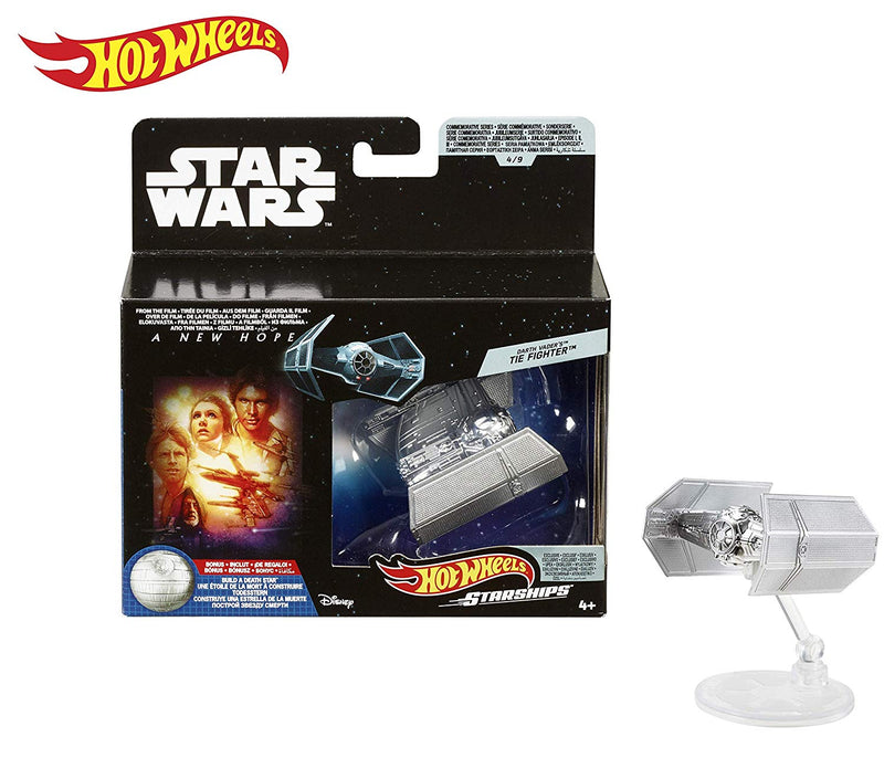 Hot Wheels Star Wars Starships Commemorative Series Darth Vader's TIE Fighter