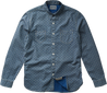Men Blue Dotted Shirt