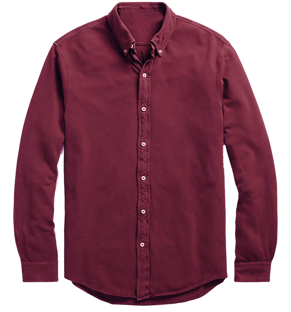 Men Cotton Maroon Shirt