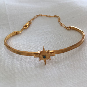 Warriors + Poets Gold Starburst Bracelet