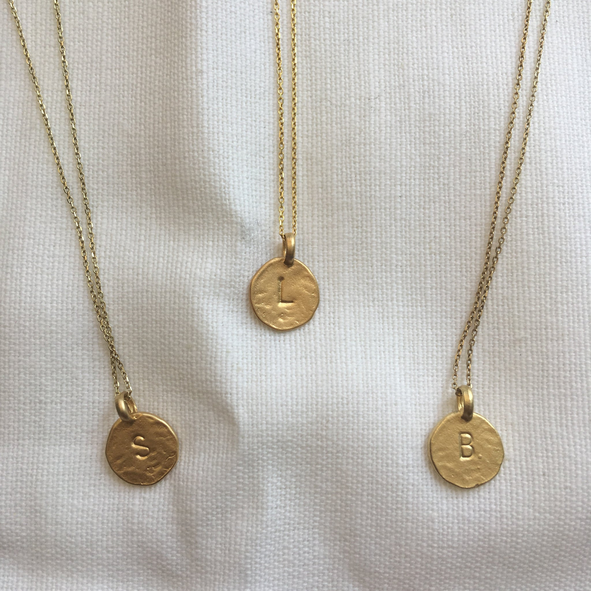 London Manori Gold Initial Necklace