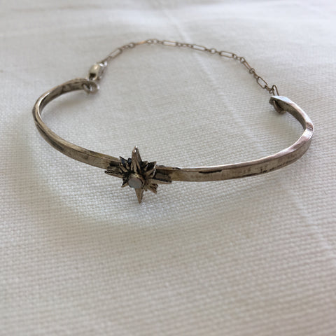 Warriors + Poets Silver Starburst Bracelet