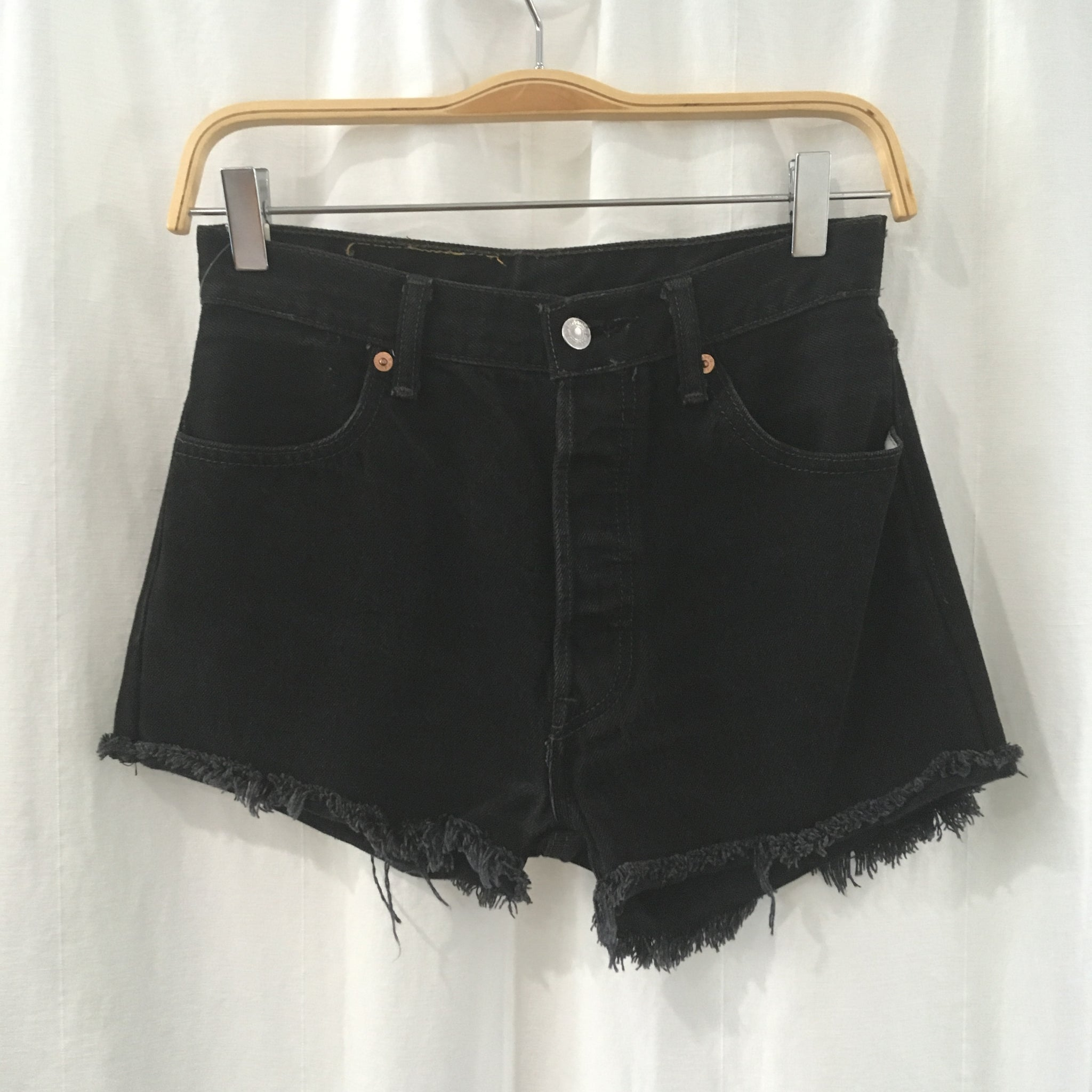 Black Reworked Levi's cut offs