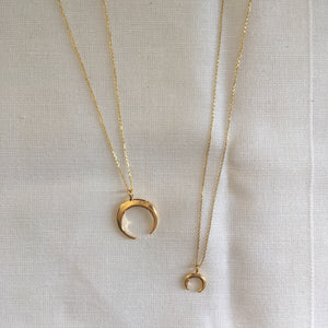 London Manori Gold Crescent Necklaces