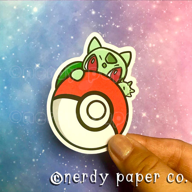 PEEKING BULBASAUR - Hand Drawn Die Cut