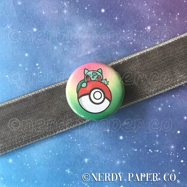 BULBA PIN BADGE |  Hand Drawn Art | Handmade Pin Badge
