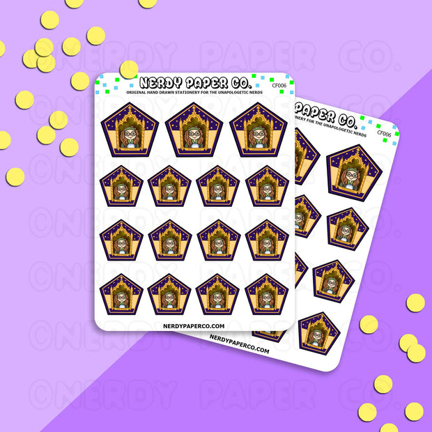 DIVINATION PROFESSOR - CHOCO FROG - Hand Drawn Wizard Planner Stickers - Deco - CF006