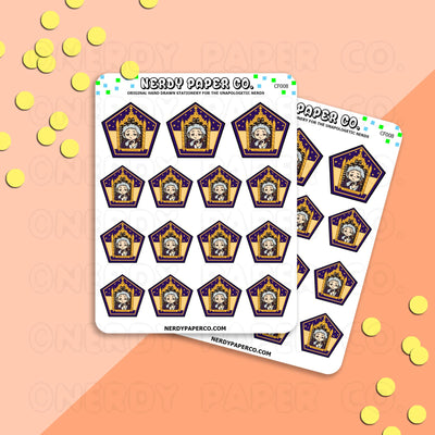 THE WANDMAKER - CHOCO FROG - Hand Drawn Wizard Planner Stickers - Deco - CF008