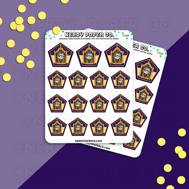 MAD EYE - CHOCO FROG - Hand Drawn Wizard Planner Stickers - Deco - CF009