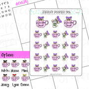Coffee Time Planner Stickers | Death before coffee | Hand drawn stickers