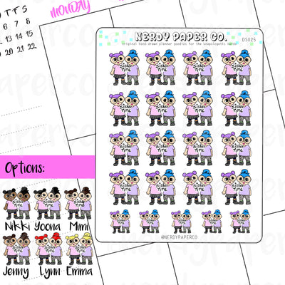 SISTERS - Hand Drawn Planner Stickers - DS025