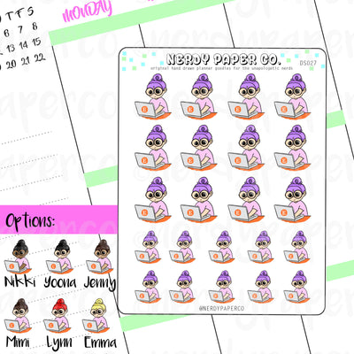 ETSY SHOPPING / Hand Drawn Planner Stickers / Deco - DS027
