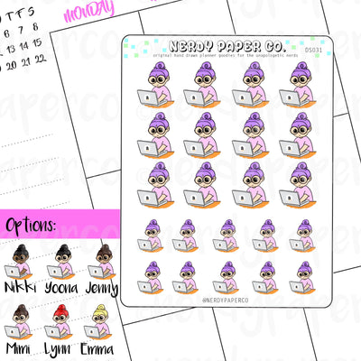 AMAZON SHOPPING / Hand Drawn Planner Stickers / Deco - DS031