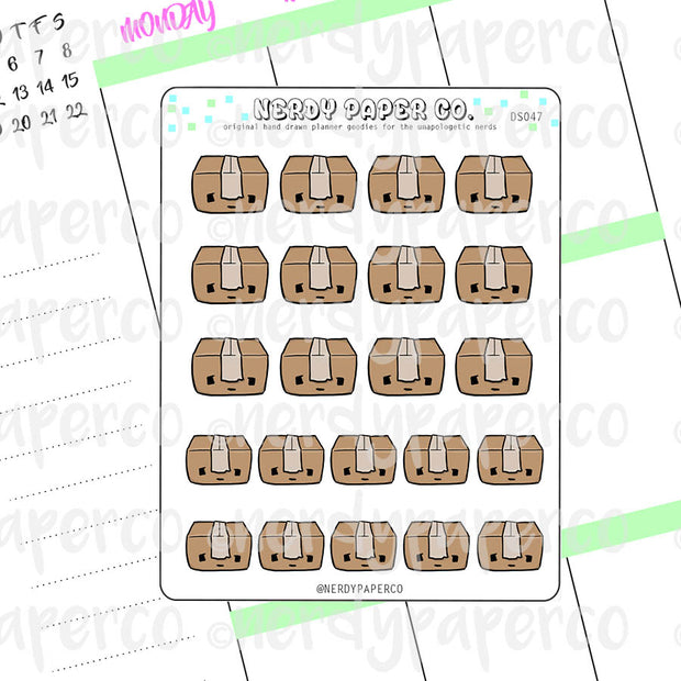 KAWAII PACKAGE - Hand Drawn Planner Stickers - DS047