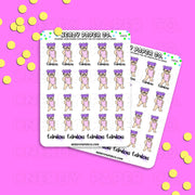 FABULOUS / Hand Drawn Planner Stickers / Deco - DS050