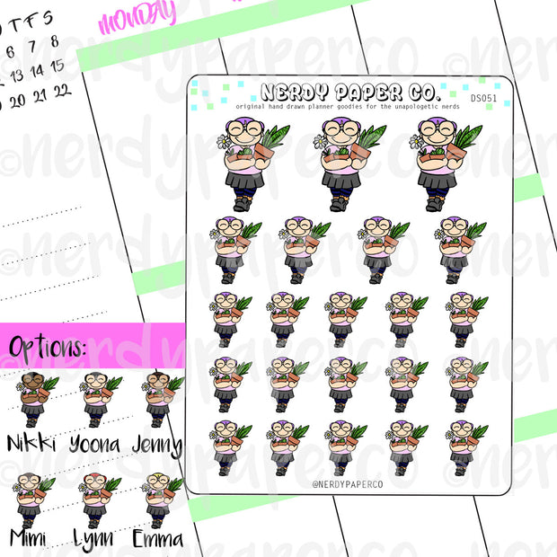 PLANT LOVE / Hand Drawn Planner Stickers / Deco - DS051