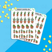 INDOOR HOUSEPLANTS | PT 1 - Hand Drawn Inspired Planner Stickers - Deco -DS054