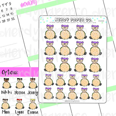 BURGER KAYLA / Hand Drawn Planner Stickers / Deco - DS060