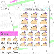 TACO KAYLA / Hand Drawn Planner Stickers / Deco - DS061