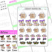 BEER TIME KAYLA / Hand Drawn Planner Stickers / Deco - DS066