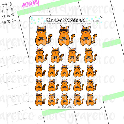 NINJA GAMER SUKI - Hand Drawn Planner Stickers - DS077