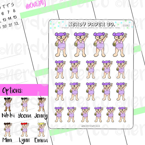 KAYLA GOT BURNT / Hand Drawn Planner Stickers / Deco - DS082