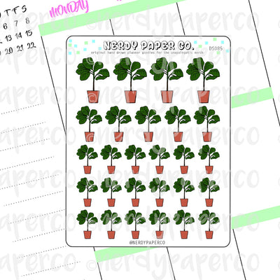 FIDDLE LEAF FIG TREE - Hand Drawn Inspired Planner Stickers - Deco -DS085