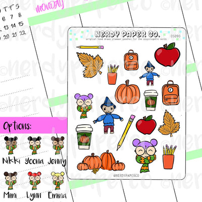 IT'S FALL - Hand Drawn Planner Stickers - Deco - DS090