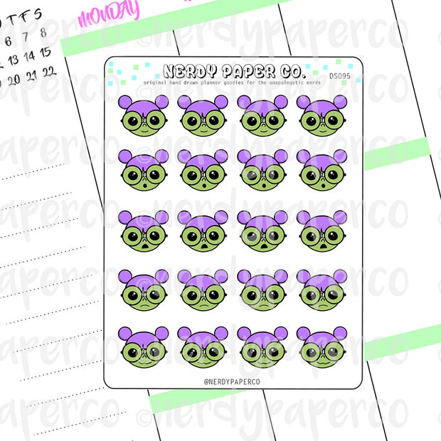 ZOMBIE KAYLA EMOJIS - Hand Drawn Planner Stickers - Deco - DS095