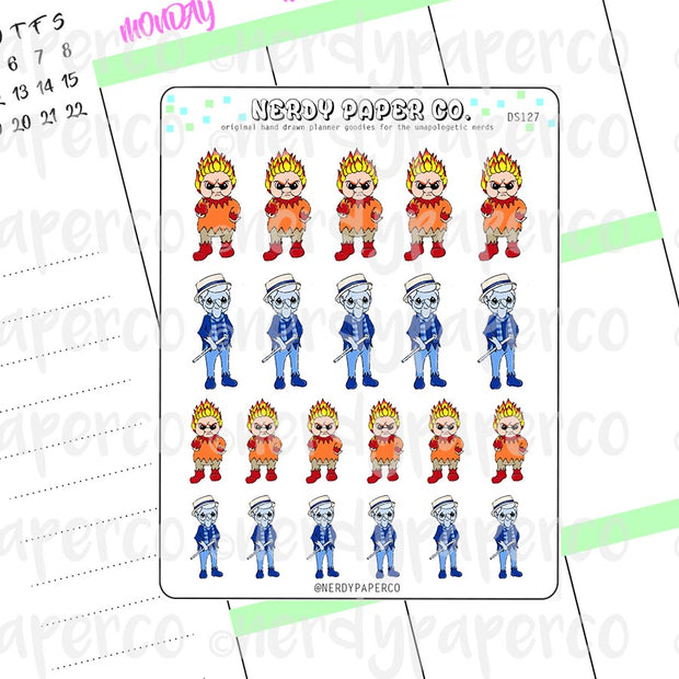 MEISER BROS - Hand Drawn Planner Stickers Deco- DS127