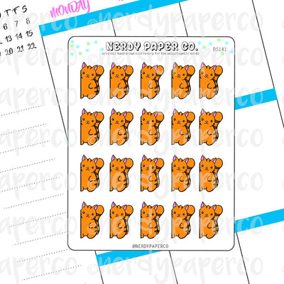 PEEKING SUKI - Hand Drawn Planner Stickers - DS141