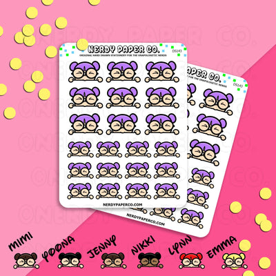 PEEKING KAYLA / Hand Drawn Planner Stickers / Deco -DS143
