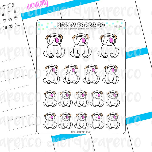 THEO LOOKING UP - Hand Drawn Planner Stickers -DS160
