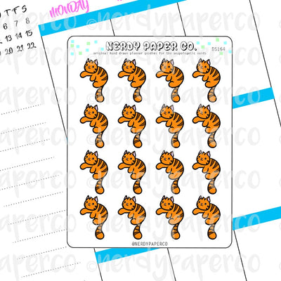 SUKI THE CAT CORNER - Hand Drawn Planner Stickers -DS164