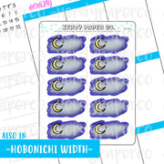 Moonlit boxes - Hand Drawn Planner Stickers -DS166