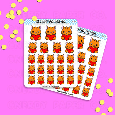 SUKI HEARTS - Hand Drawn Planner Stickers - DS219