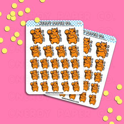 OMG SUKI - Hand Drawn Planner Stickers - DS226