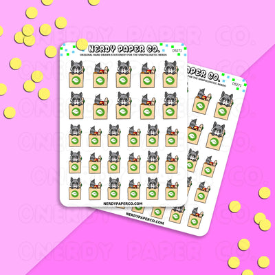 JINI ♥ GROCERIES - Hand Drawn Planner Stickers - DS271