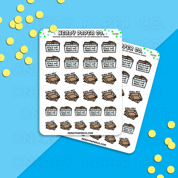 MAIL PACKAGES - Hand Drawn Travel Planner Stickers - DS289