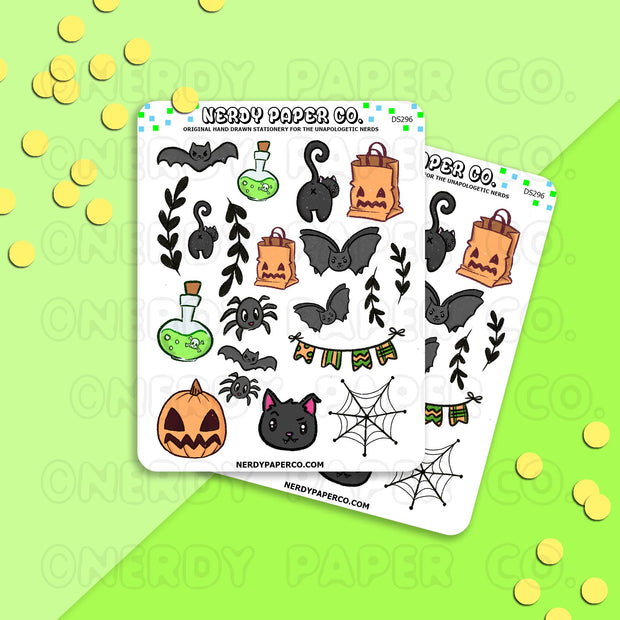HALLOWEEN SAMPLER - Hand Drawn Planner Stickers - DS296