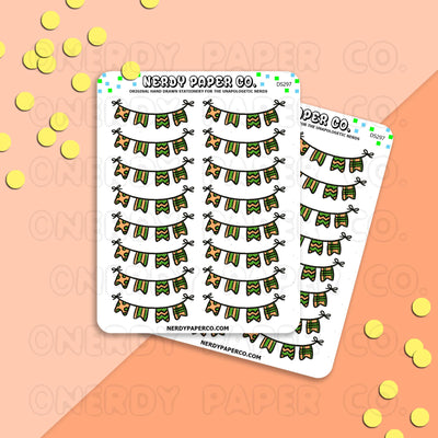 FALL BANNER - Hand Drawn Planner Stickers - DS297