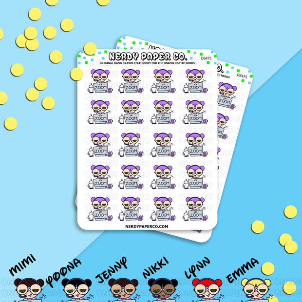 Zoom Kayla - Hand Drawn Planner Stickers - Deco - DS475